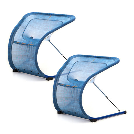 Denim Suzak Chair // Medium // Set of 2
