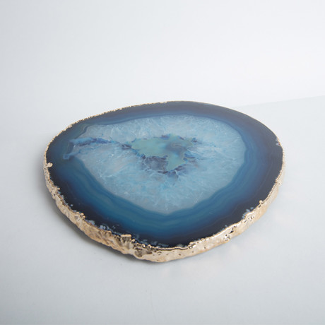 Agate Trivet + Gold Rim // Thin (Natural)