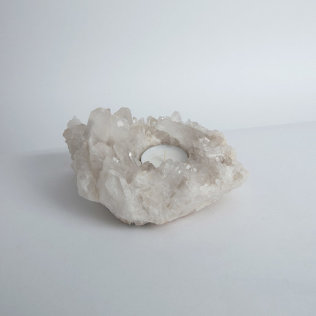 Quartz Cluster Candle Holder