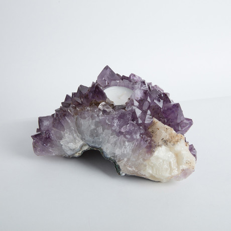 Amethyst Cluster Candle Holder