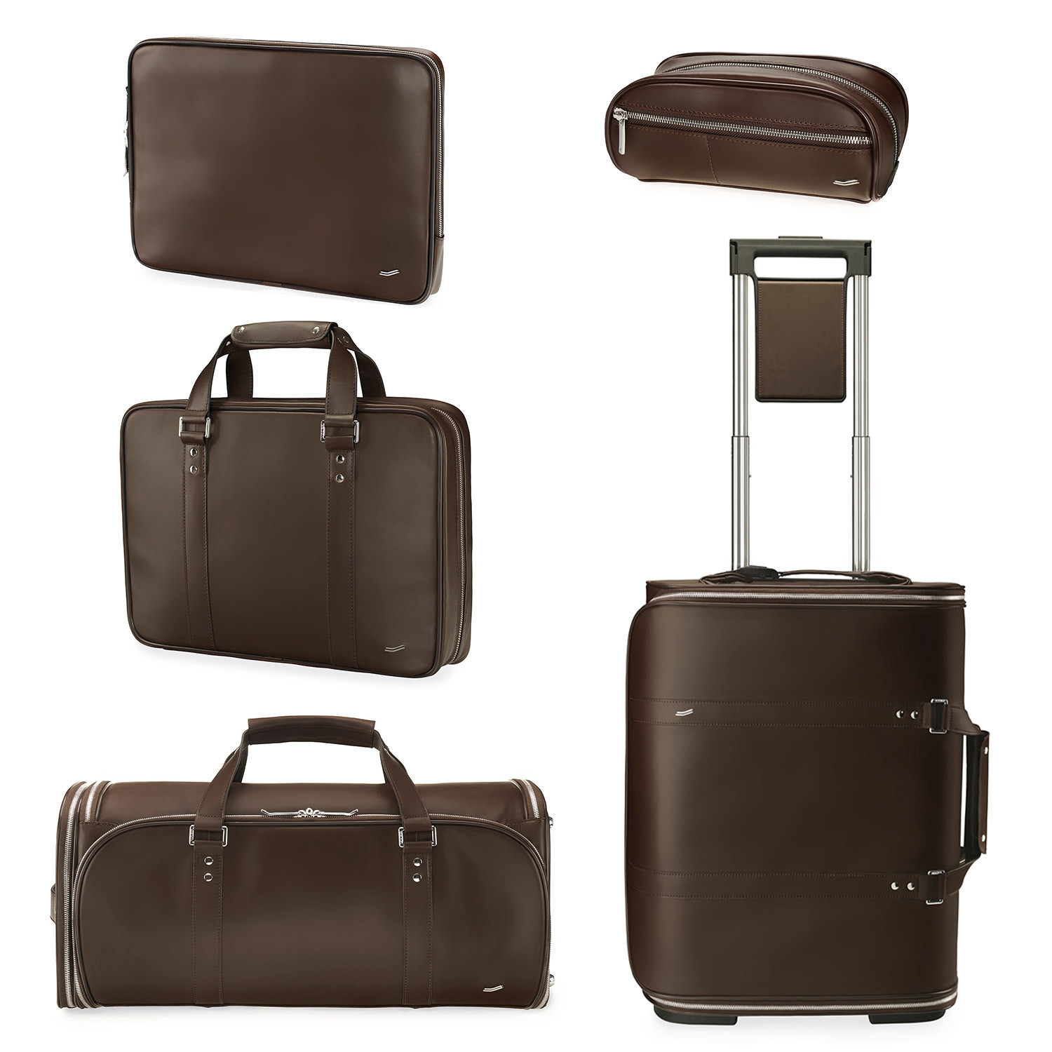 Brown Vocier F25 Leather Briefcase