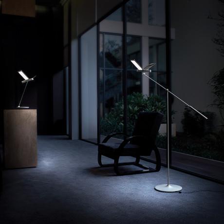 Seagull Floor Lamp // Silver