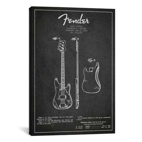 """Bass Guitar (26""""W x 18""""H x 0.75""""D)"""