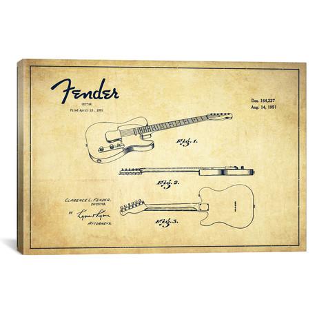 "Fender Guitar (18""W x 26""H x 0.75""D)"