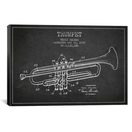 """Trumpet // Charcoal (18""""W x 26""""H x 0.75""""D)"""