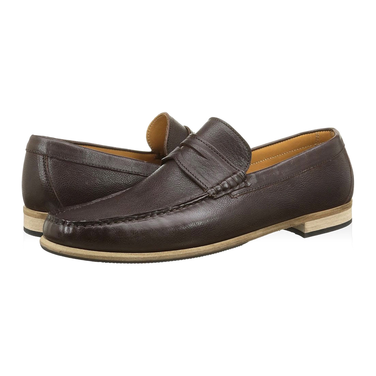 promo code 46202 55819 Alexander Trend // Leather Penny Loafer // Dark Brown (Euro ...