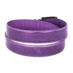 Hand-Painted Leather Belt // Purple (S)