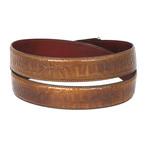 Crocodile Embossed Calfskin Leather Belt // Olive (S)