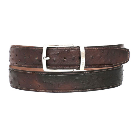 Genuine Ostrich Belt // Brown (S)