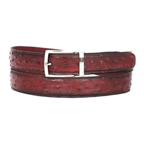 Genuine Ostrich Belt // Bordeaux (S)