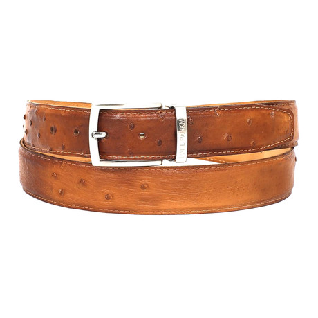 Genuine Ostrich Belt // Camel (S)