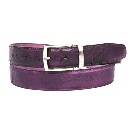 Genuine Ostrich Belt // Purple (S)