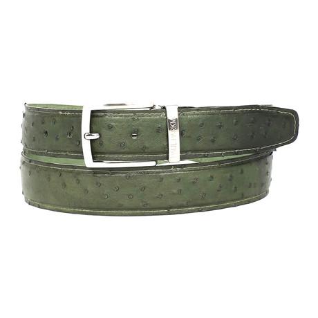 Ostrich Belt // Green