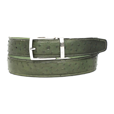 Genuine Ostrich Belt // Green (S)