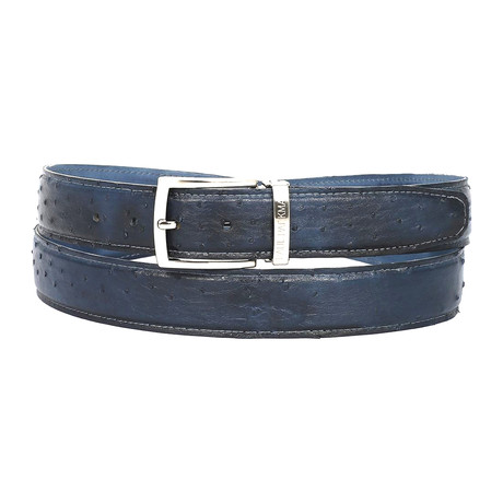 Genuine Ostrich Belt // Navy (S)