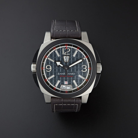 JeanRichard 2 Time Zones GMT Automatic // 68130-19-21A-AA2D // Unworn