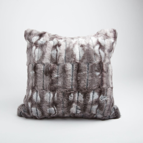 "Rabbit Pillow // Pewter (14""L x 20""W)"
