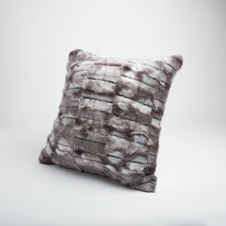 "Rabbit Pillow // Pewter (14""L x 20""W)"