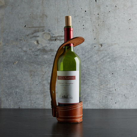 Original Leather Wine Holder // Cognac