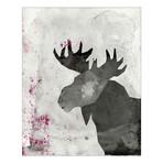 "Nature Trail // Moose (16""W x 20""H x 1.62""D)"