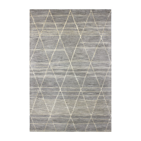 Moroccan // Taupe Wool + Viscose Rug