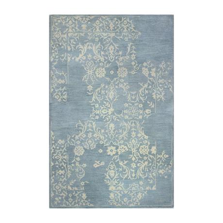 Mirage // Light Blue Wool + Viscose Rug