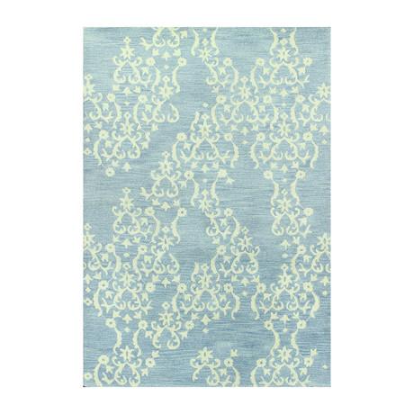Lace // Light Blue Wool + Viscose Rug
