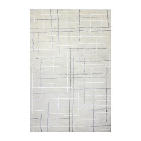 Crossroads // Ivory Wool + Viscose Rug (8'L x 2'6