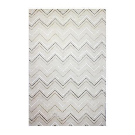 Chevron // Ivory Wool + Viscose Rug