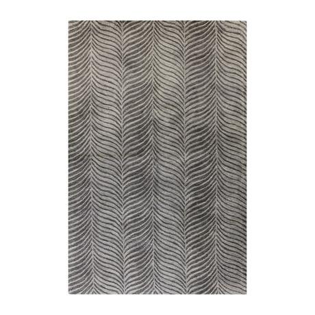 Stripes // Grey Wool + Viscose Rug