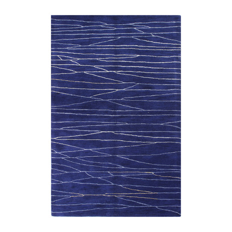 Intersect // Navy Wool + Viscose Rug