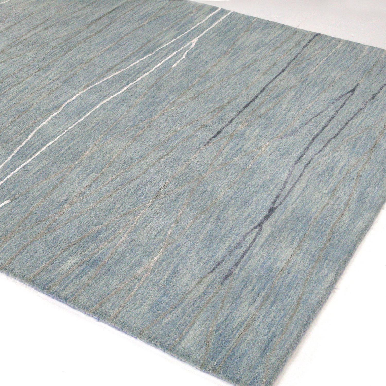 """Intersect // Light Blue Wool + Viscose Rug (5'9""""L X 3'9""""W"""