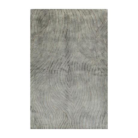 Scrolls // Light Blue Wool + Viscose Rug