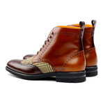 Military Brogue // Cognac + Medium Brown + Tweed (US: 9)