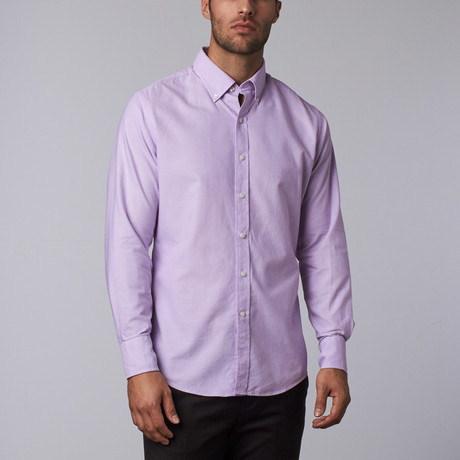 Highline Washed Casual Button-Up // Lavender Oxford