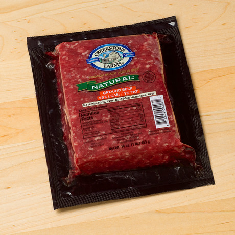 Natural Ground Beef // 93% Lean // 6 Lbs.