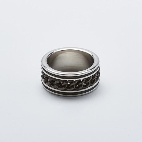 Cuban Link Ring // 2-Tone Black