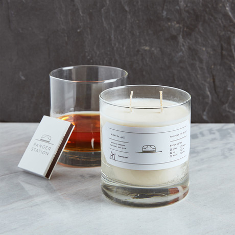 Scent No. 001 LEATHER + PINE // Candle