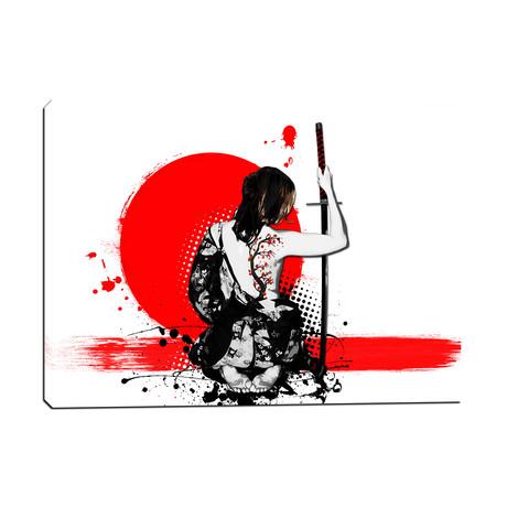 """Trash Polka // Female Samurai (12""""W x 18""""H x 0.75""""D)"""