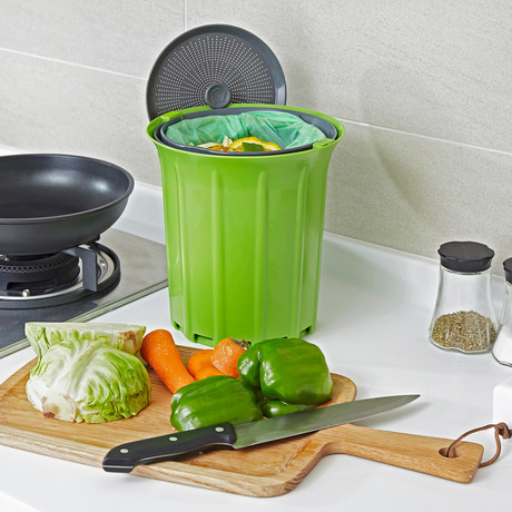 breeze compost collector lemon fresh air bags 6 boxes green slate