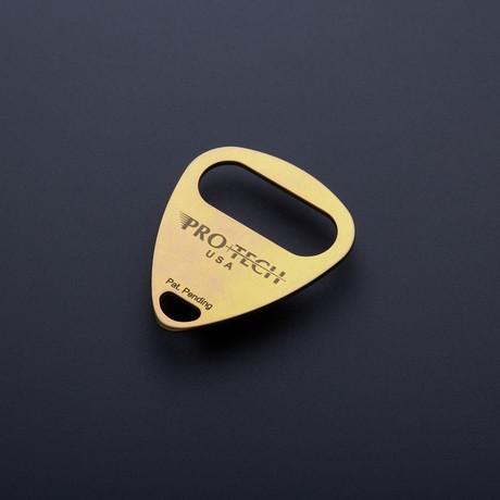 Titanium Bottle Pick // Gold Anodize