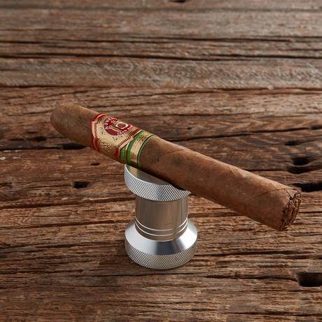 Fanelli Cigar Rest and Bottle Opener // Silver + Wooden Gift Box