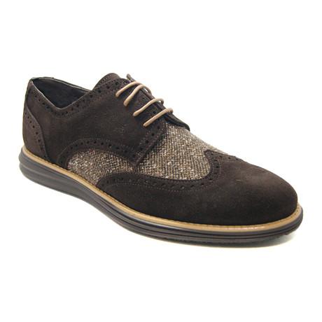 Sepigo Suede Sport Shoe // Brown