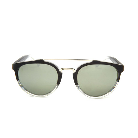 Trust Sunglasses // Black + Clear Fade + Mirror Lens