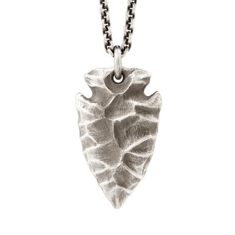 Arrowhead Pendant + Silver Chain // Sterling Silver