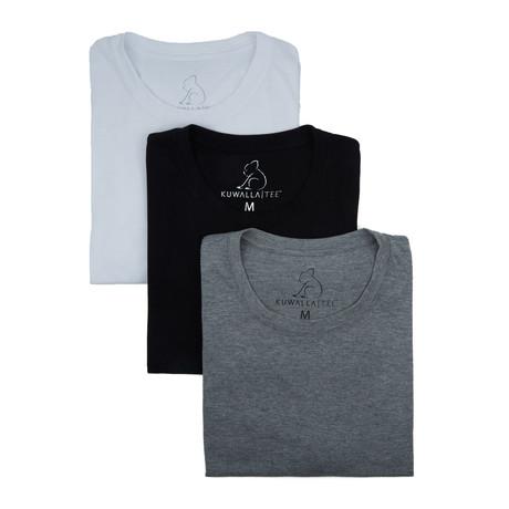 Mix Tower Tees // Black + White + Grey // Set of 3