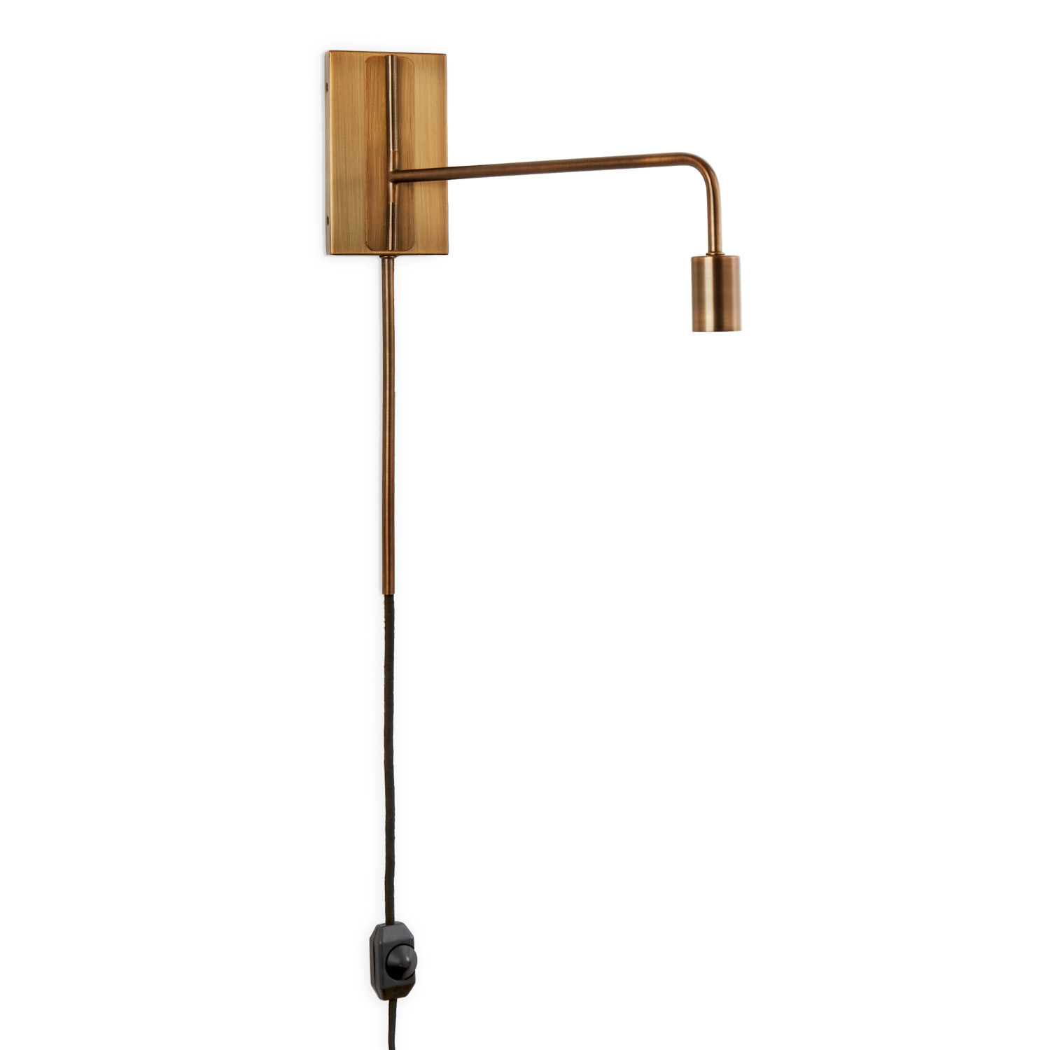 hoyt swing arm wall sconce bronze