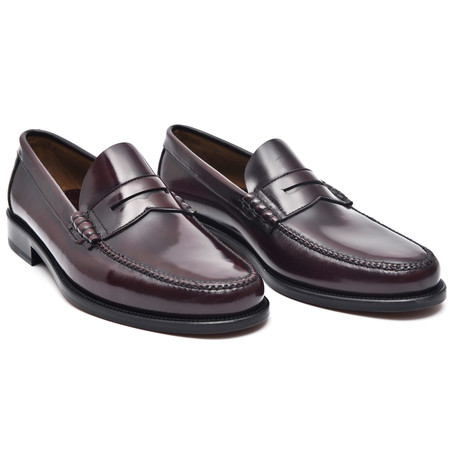 Leather Sole Penny Loafer // Bordeaux