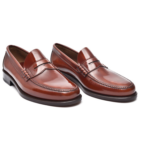 Leather Sole Penny Loafer // Redwood