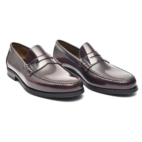 Rubber Sole Penny Loafer // Bordeaux